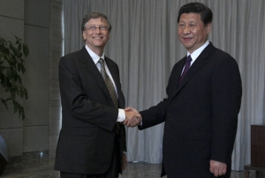 bill gates and jinping