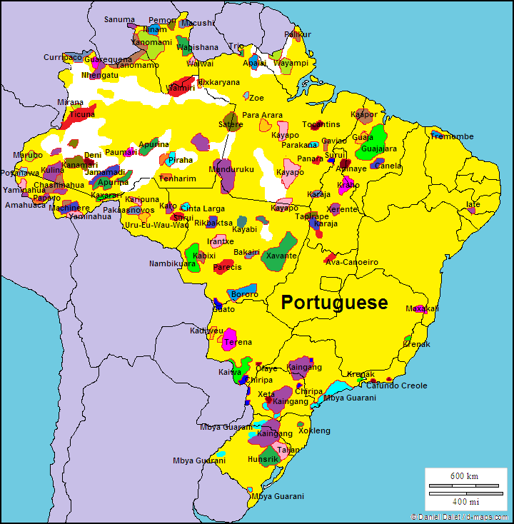 NOL map Brazil languages