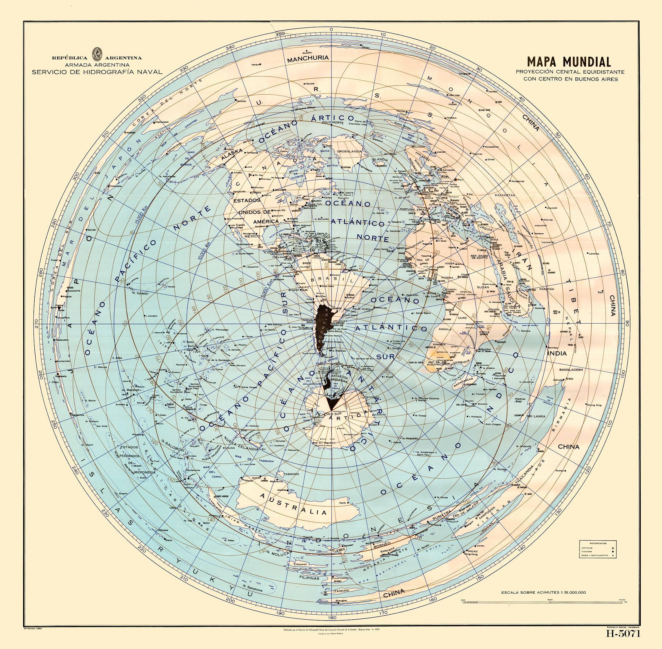 NOL map Argentina 1975