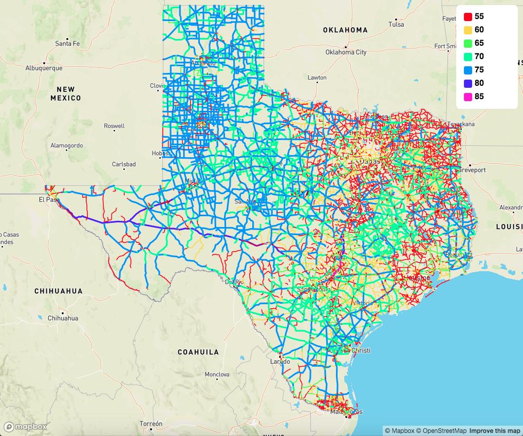 NOL map Texas highways
