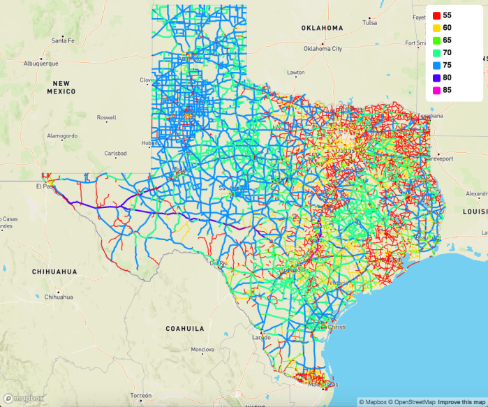 NOL map Texas highways