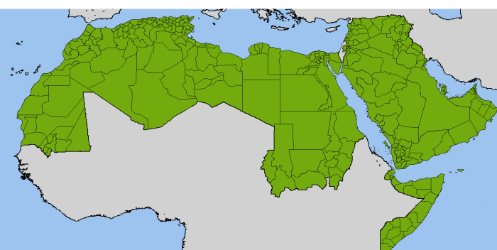 NOL map Arab world admin divisions
