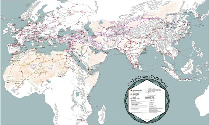 NOL map medieval trade networks