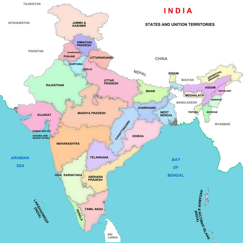 NOL India's states