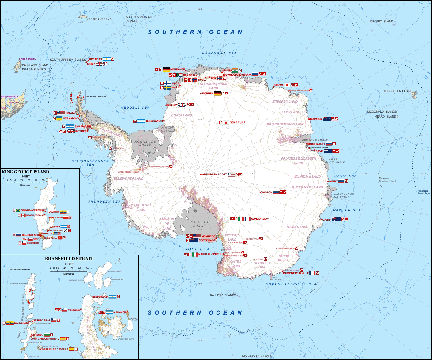NOL map Antarctica countries