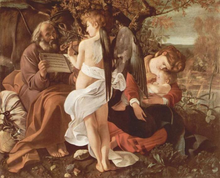 NOL art Caravaggio rest on the flight into egypt 1597