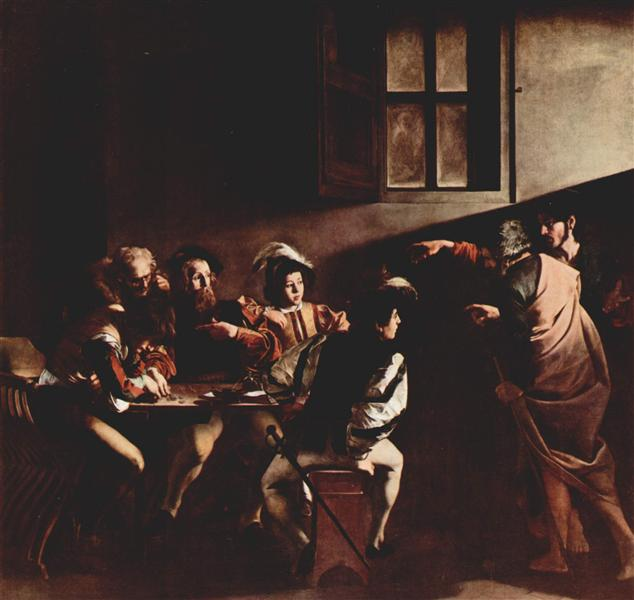 nol art caravaggio calling of saint matthew