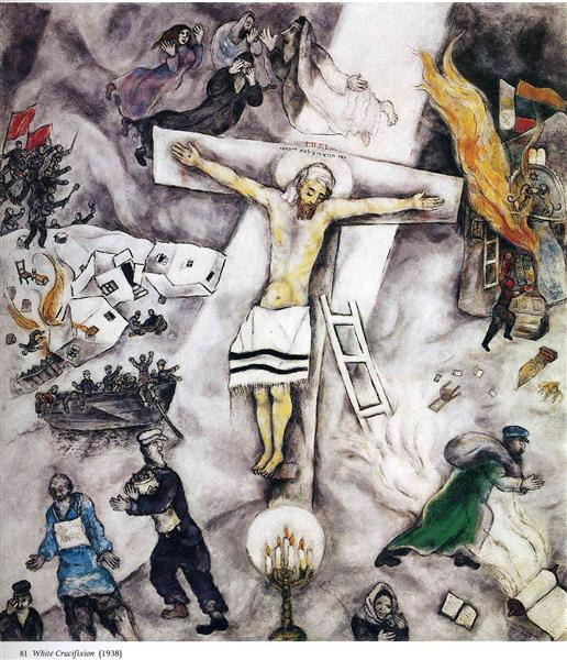 nol art chagall white crucifixion 1938