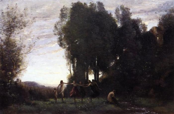 nol art corot circle of nymphs morning 1857
