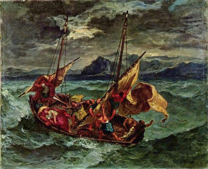 nol art delacroix christ on the sea of galilee 1854