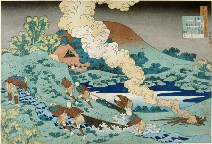nol art hokusai no kakinomoto hitomaro 1835