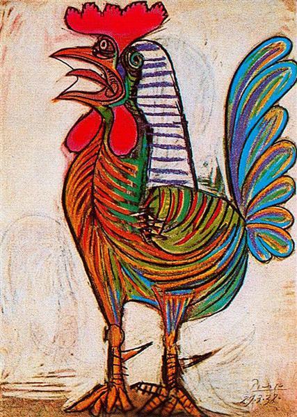 nol art picasso le coq 1938