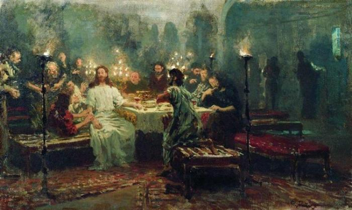 nol art repin last supper 1903