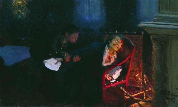 nol art repin the self immolation of gogol 1909