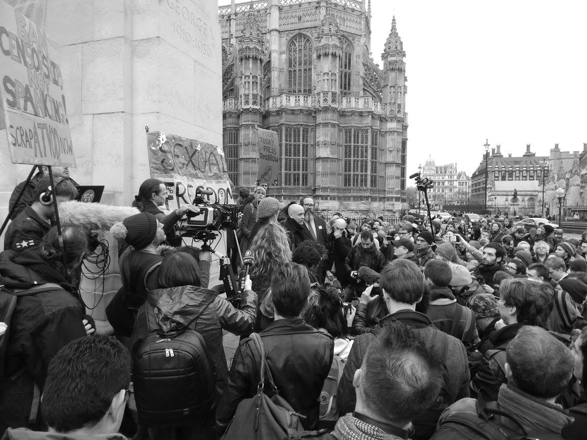 2014 Protest outside parliament for sexual expression. Photo by BeeMarsh BeePhoto
