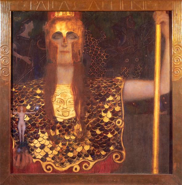 NOL art Klimt minerva or pallas athena